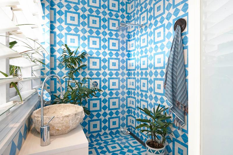 interior baño al aire libre
