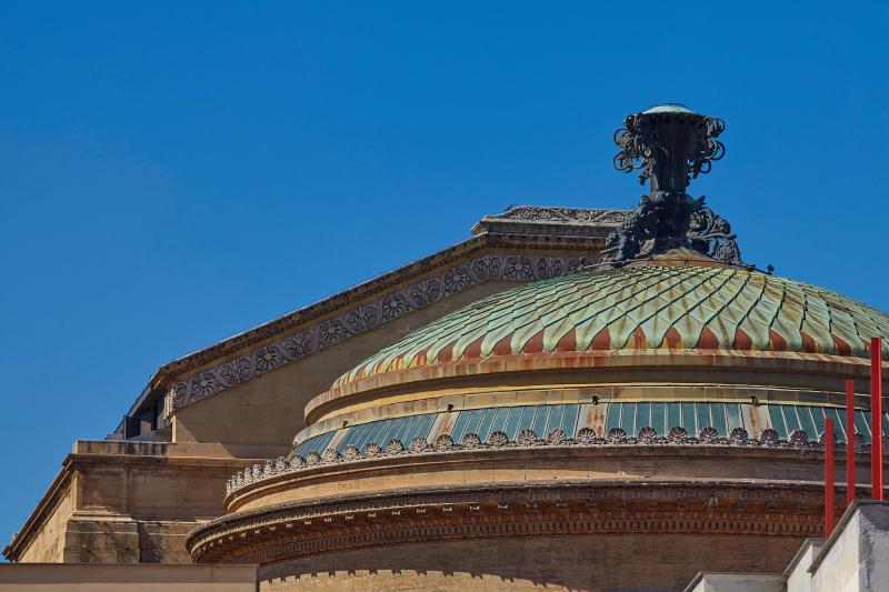 Teatro Massimo roof viewed from the terrace