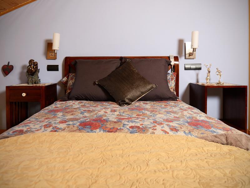 Dormitorio con lencería de Invierno.