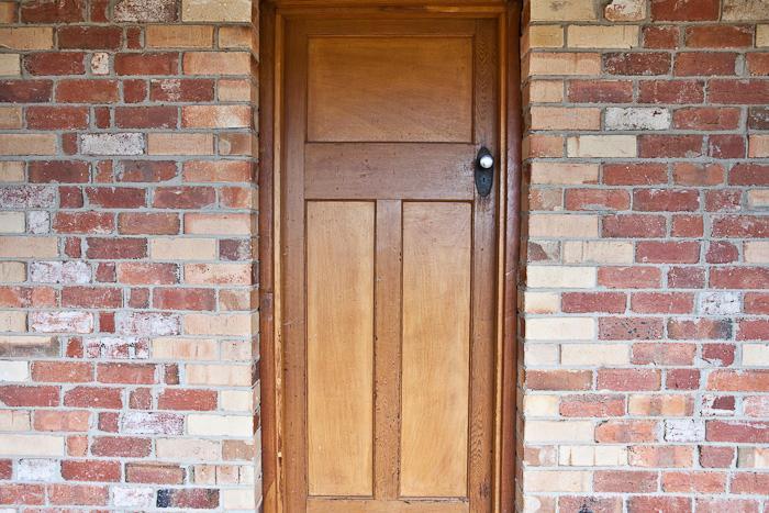 Redbrick front door