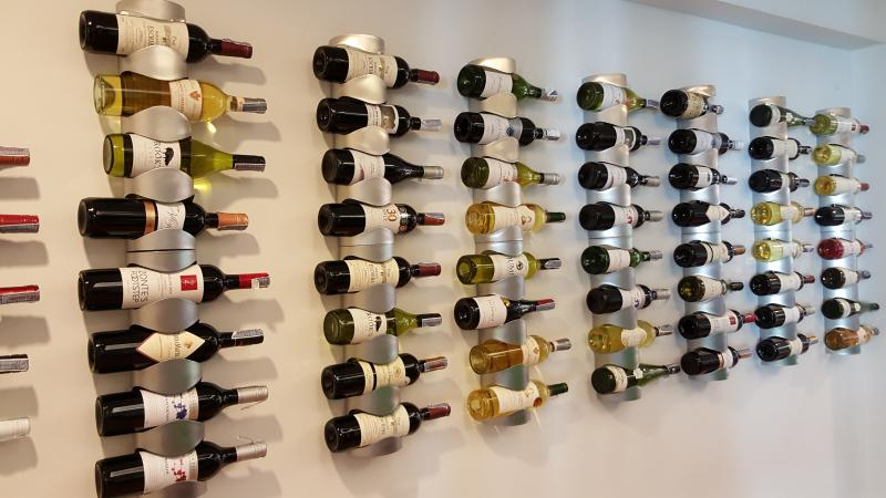 We have a 100-bottle strong collection of international wine for your enjoyment