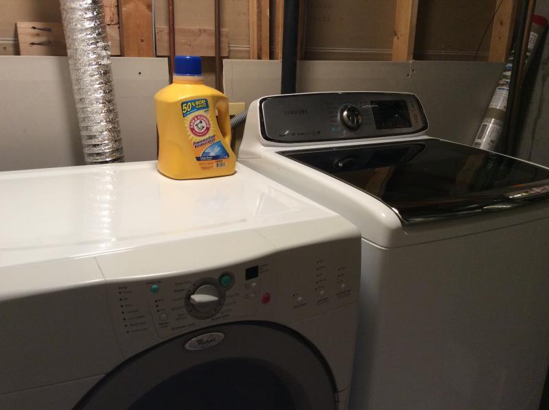Shared laundry room.