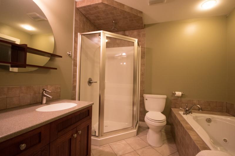 Bagno en-suite con vasca idromassaggio