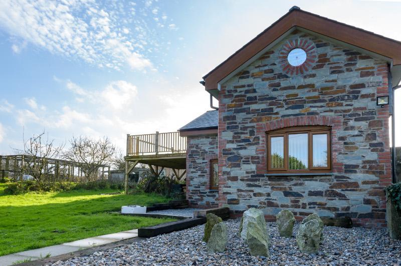 Casa rural chimenea de hiedra