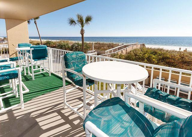 Comfortable patio furniture to relax and enjoy the view