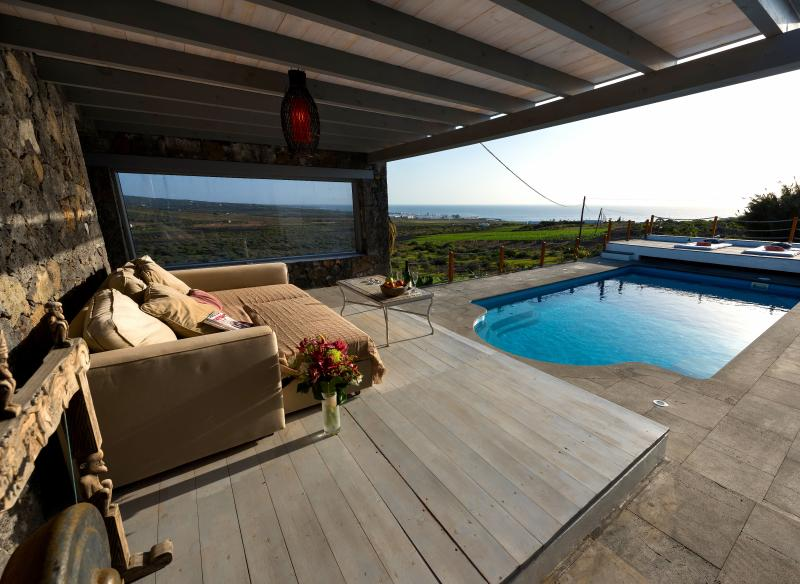 Solar heated pool with amazing sea views