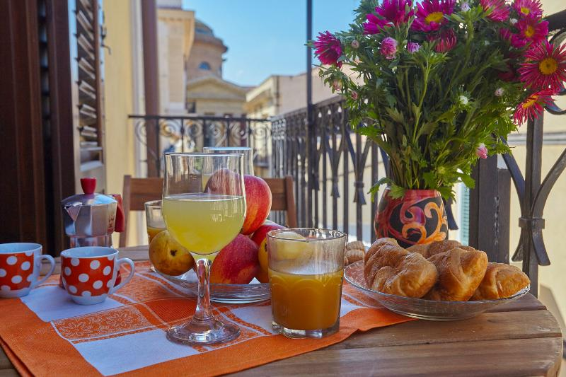 Breakfast looking at Teatro Massimo