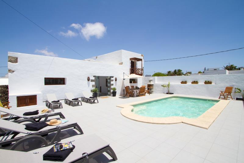 Solar heated pool at Tiagua 81