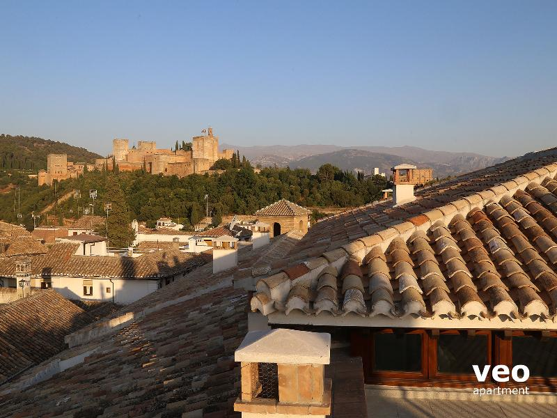 View of the Alhambra from the Penthouse rooftop - without access for guests.