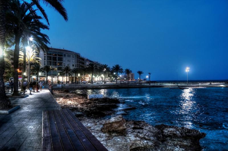 Torrevieja seafront by night
