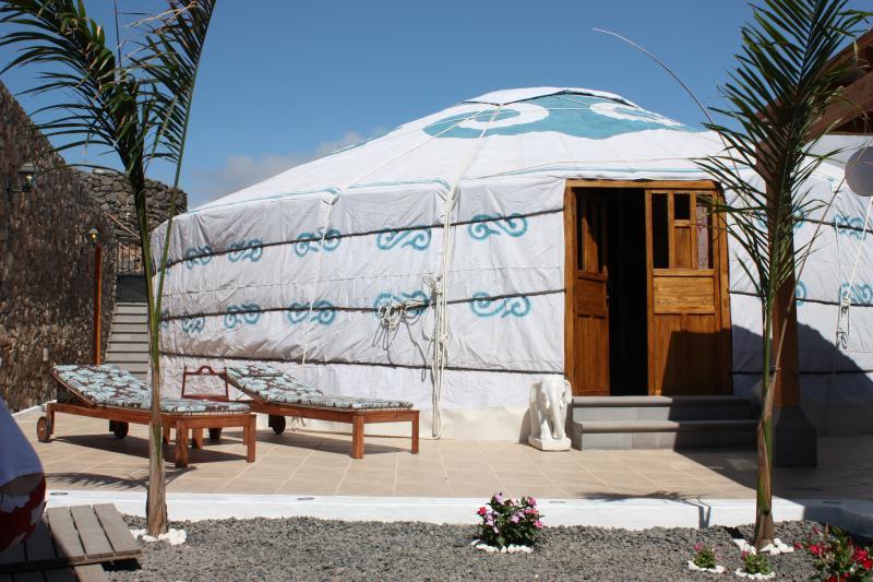 Entrada do eco Yurt Royale Ger