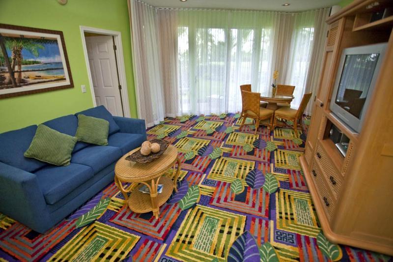 Salle de séjour de Holua côté de Moana Loa