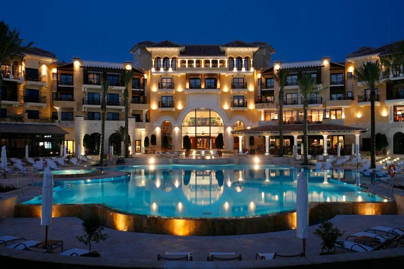 Intercontinental Hotel on the resort, complete with Spa facilities, bars, and dining options.