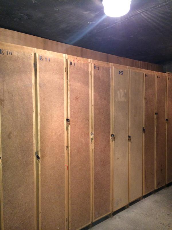 private ski lockers security lock