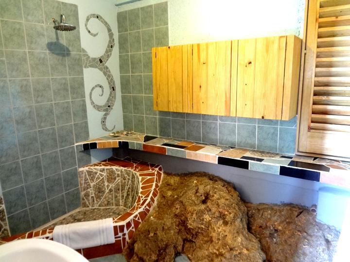 en-suite bathroom with rain shower