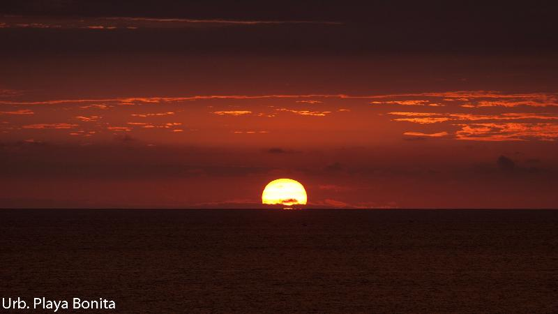 Beautiful rich sunsets most every night.