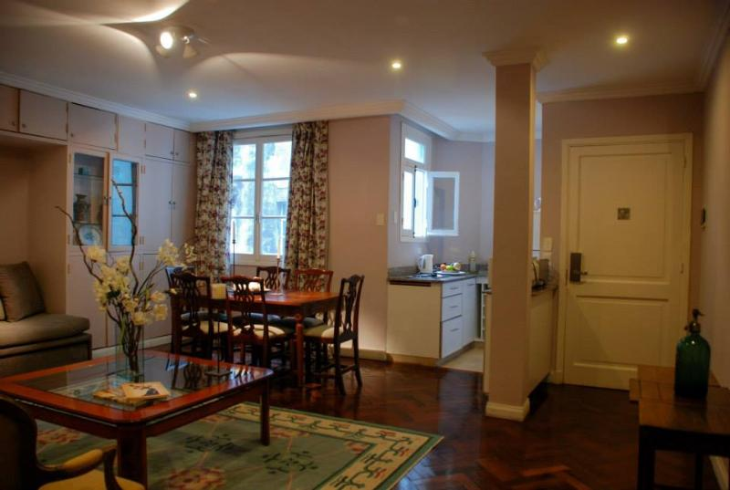 Dining room and kitchen
