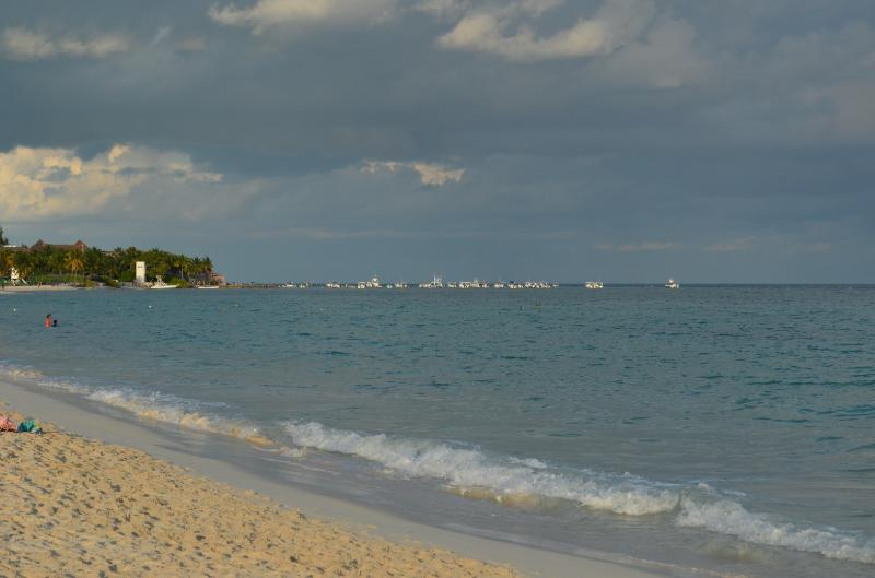 The beautiful Caribbean sea from Mamitas beach
