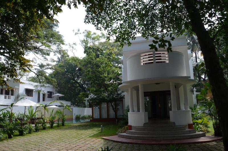 Twin identical Bungalows each with a private pool and garden