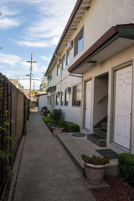 One apartment in an eight unit complex