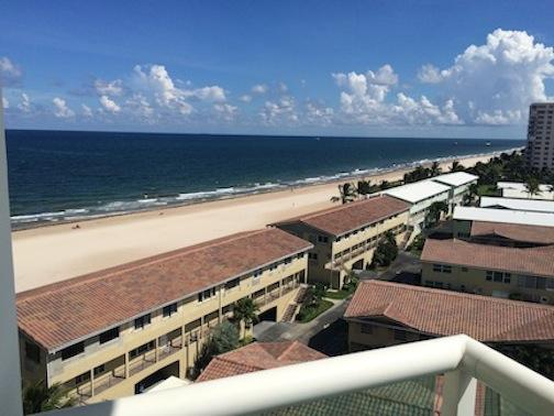Day time views are to die for. Direct ocean/beach view. Walk out onto the beach from this unit.