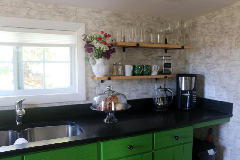 honed granite counter tops , Capresso kettle