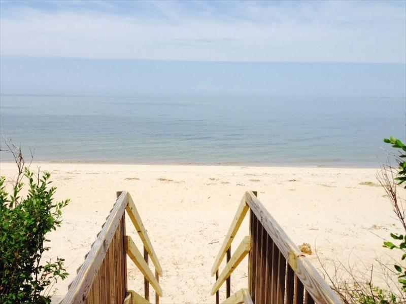Private beach access from property