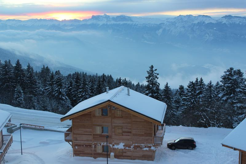 Fantastic view from back of the Chalet Lena!