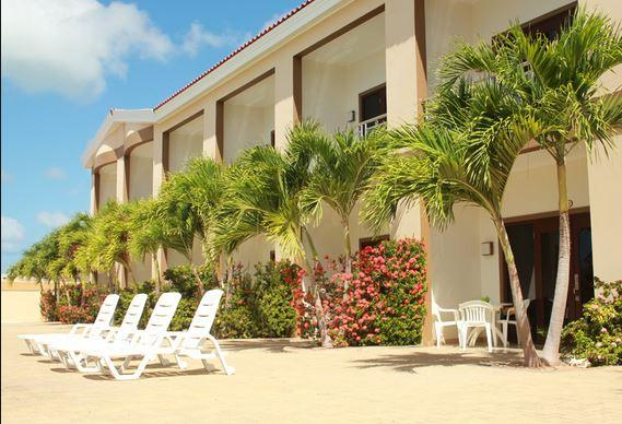This is a real shot of Aruba Breeze Condominium Hotel