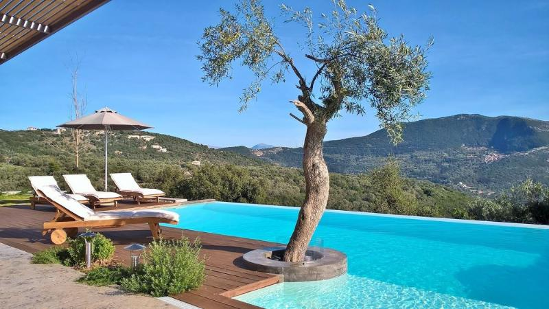 Luxury spacious villa with private pool,next to our own winery!, location de vacances à Sivota