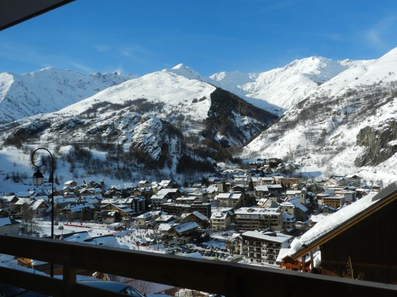 From the balcony overlooking the village of Valloire balcony is equipped with a balcony set