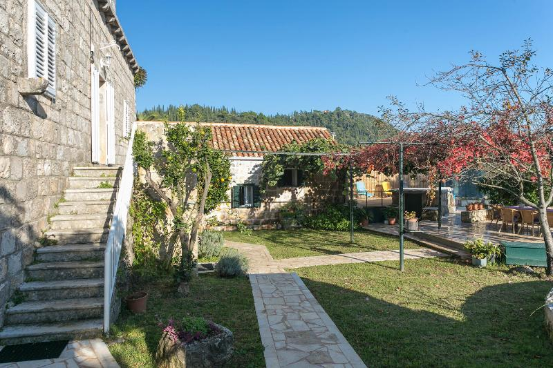 Courtyard, main house left, guest house straight ahead