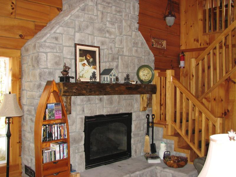 Another view of the fireplace