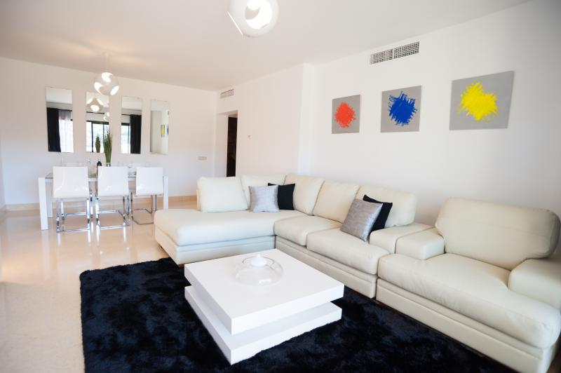 Lovely spacious lounge with comfy sofa and 20 MB Fibre Optic and International TV Channels