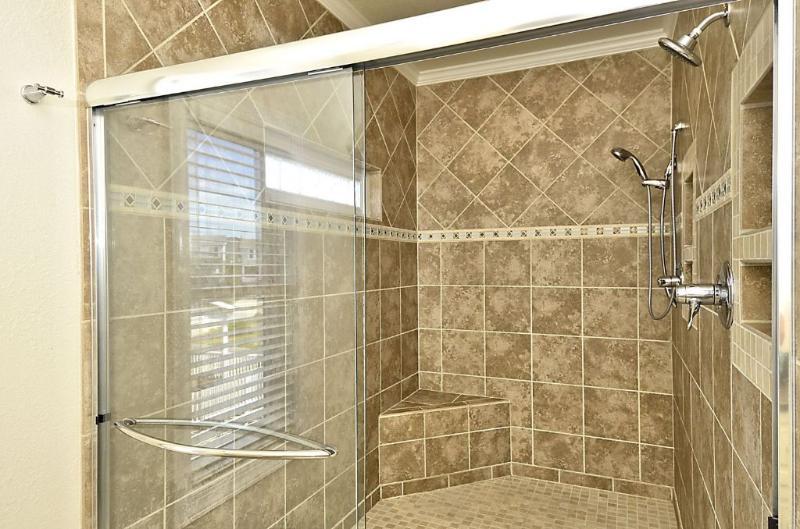 Master tile shower
