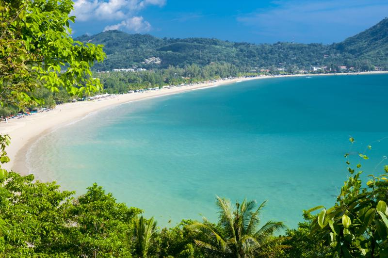 World famous Kamala Beach offers warm water, clean sand and calm waters great for families.