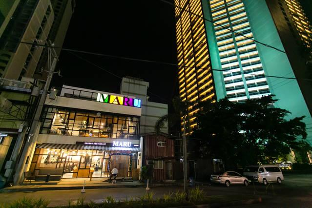 One of the famous Korean restaurants, Maru, is just across the street