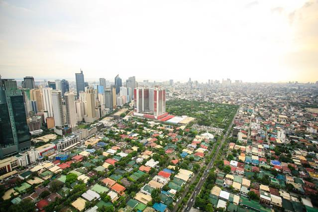 Makati skyline (actual view from unit)