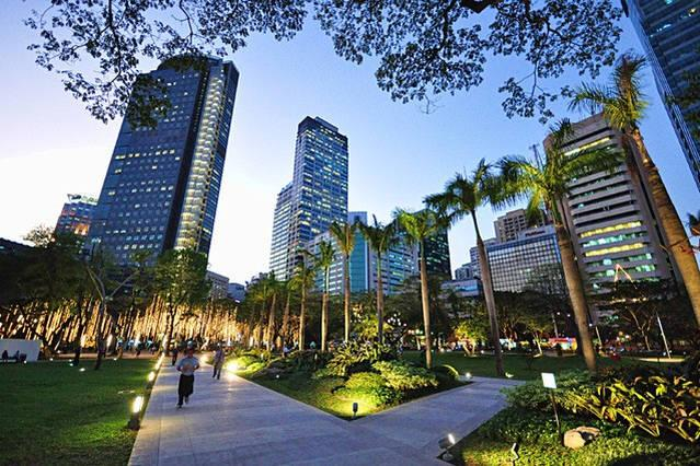 A few minutes away from Ayala Triangle Park