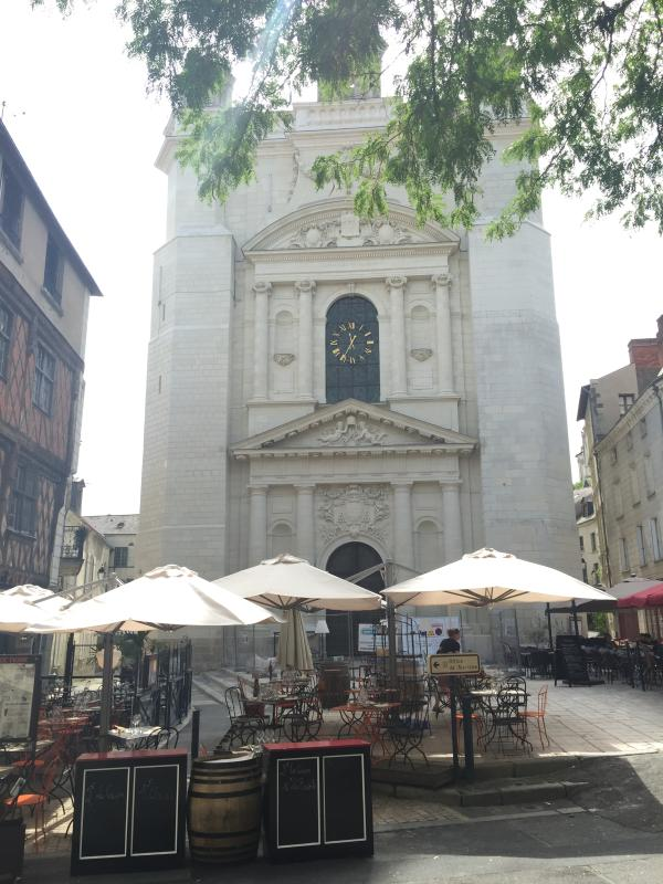 The recently restored church, Place Saint Pierre