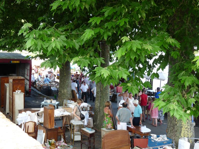 One of the many nearby antique markets in the area.