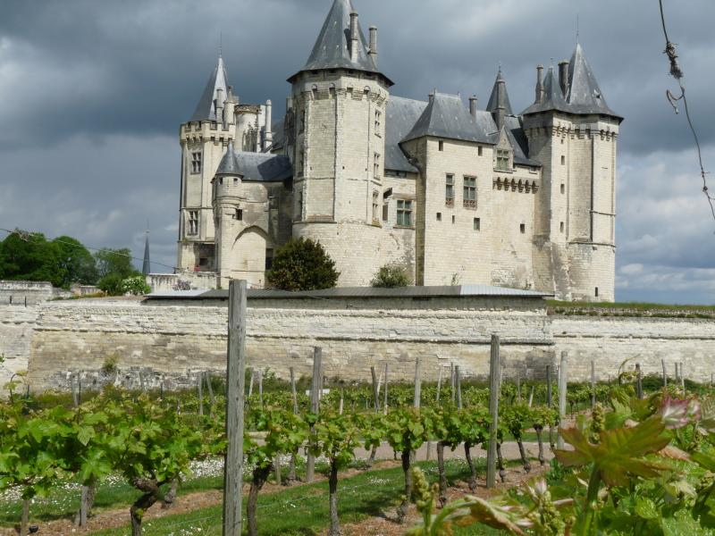 The majestic chateau.  A short walk from away.