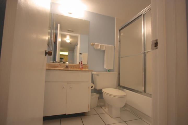 Bagno degli ospiti con doccia / vasca