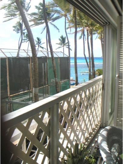 Partial ocean view from room
