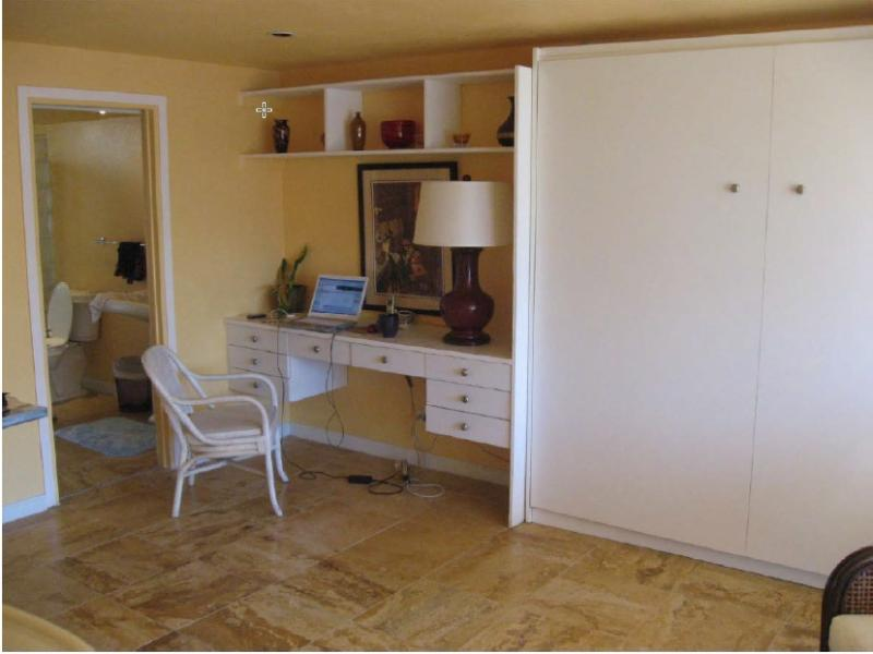 Desk area with murphy be up