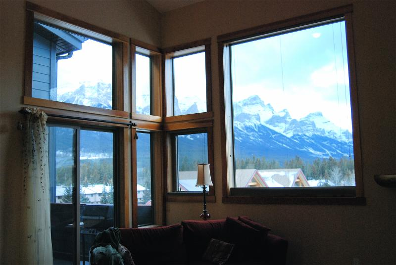 Two story panoramic windows to enjoy the view.