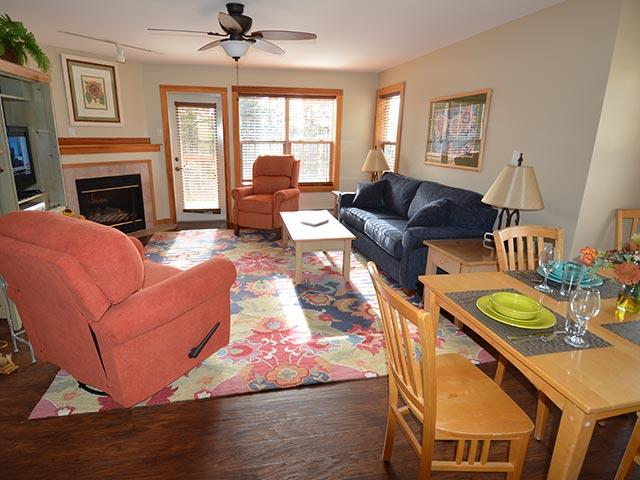 Camp 4 # 21: Fabulous 2 Bedroom, Slopeside, end unit Townhouse.