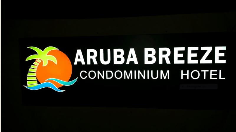 Aruba Breeze Outside signage