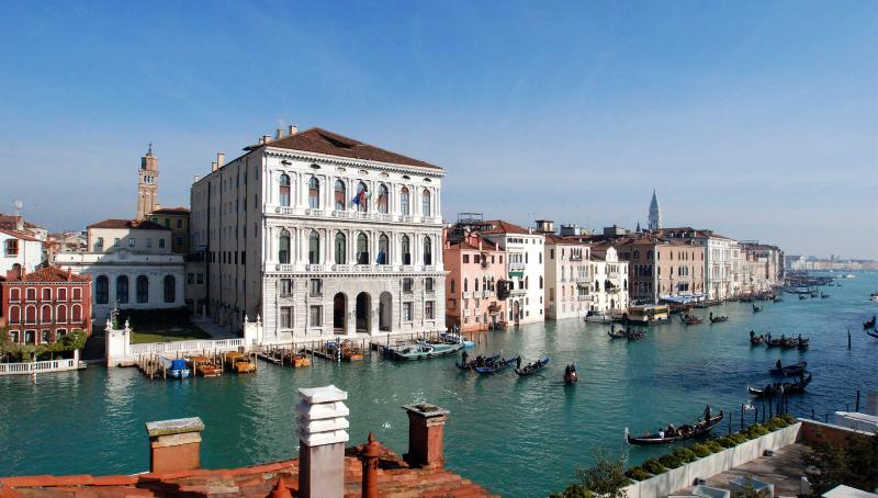 the view from the Guggenheim terrace on the Grand Canal
