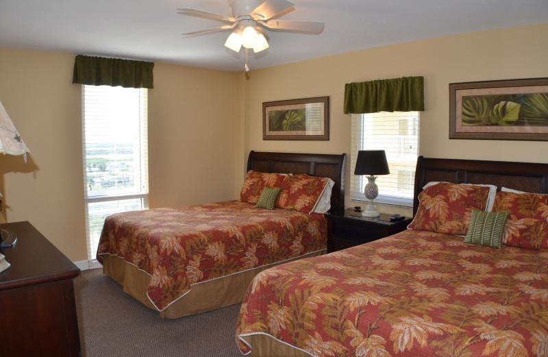 Third bedroom with 2 queen beds and private full bathroom